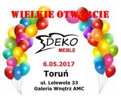 Wielkie Otwarcie Sklepu Meble Deko Galeria Wnętrz AMC Toruń - dużo rabatów!