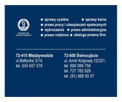 Kancelaria Radcy Prawnego Marta Czternastek oferuje usługi prawne
